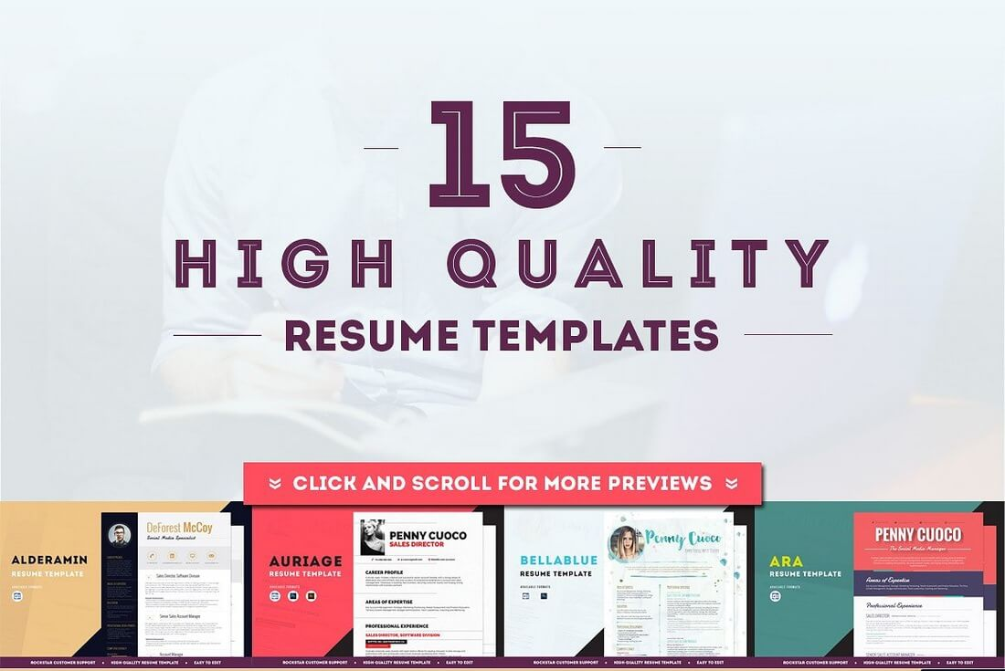 cant decide which template is right for you then grab this bundle and choose from 15 different templates use a different resume for each job application