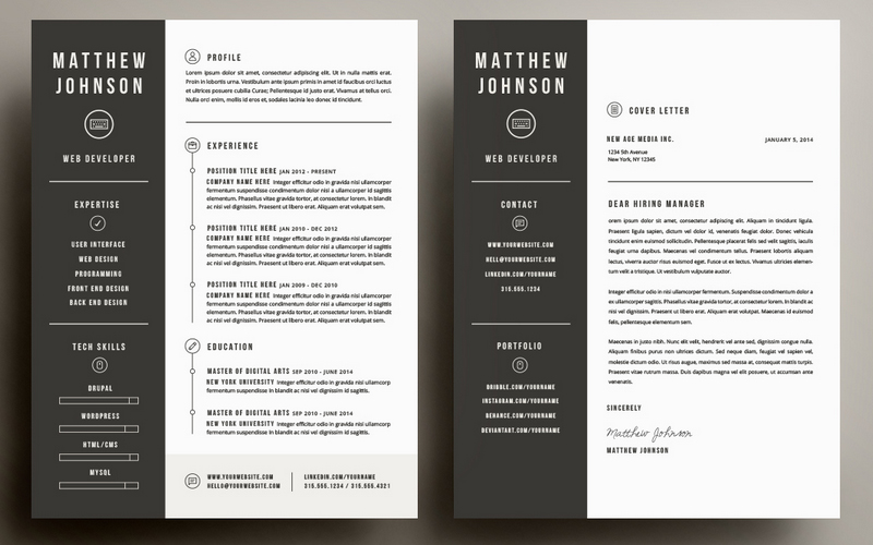 Resume Cover Letter Template By Refinery Co
