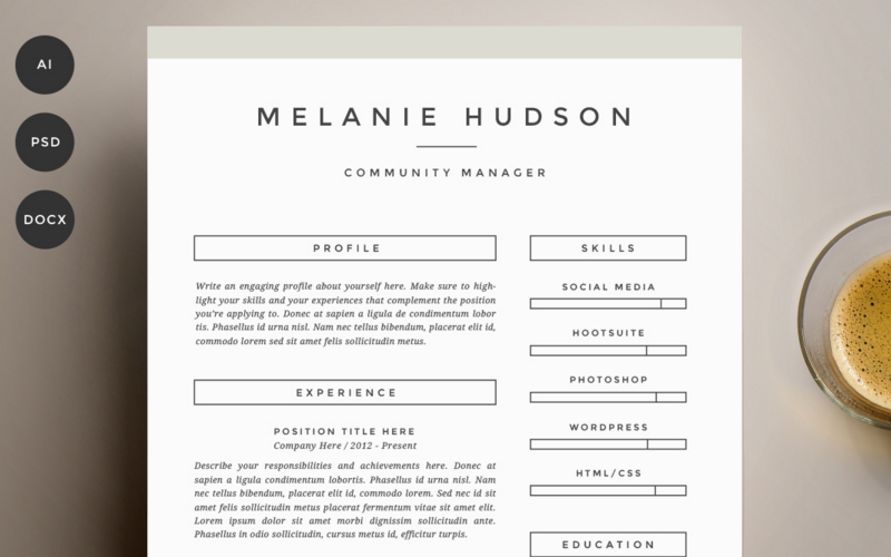 Resume 4 Pack Template