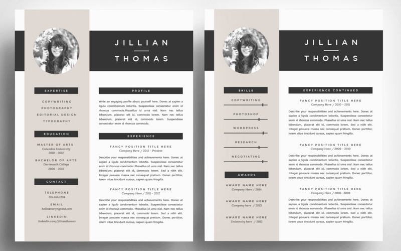 the best cv resume templates 50 examples web emailing. Black Bedroom Furniture Sets. Home Design Ideas