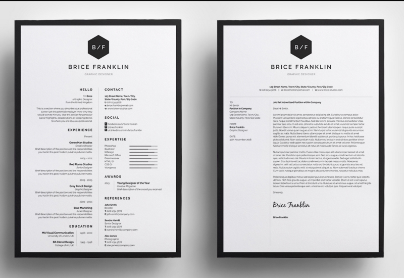 Brice Resume/CV  Simple Graphic Design Resume