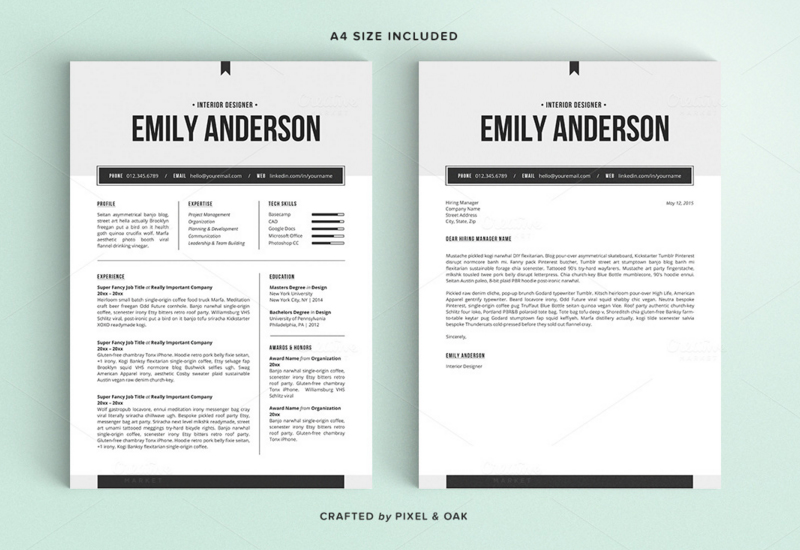 Free Resume Template And Cover Letter. Modern Resume Templates
