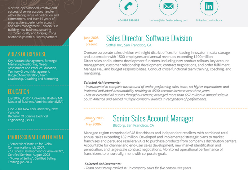 The Best CV Resume Templates 50 Examples Web eMailing – Attractive Resume Templates
