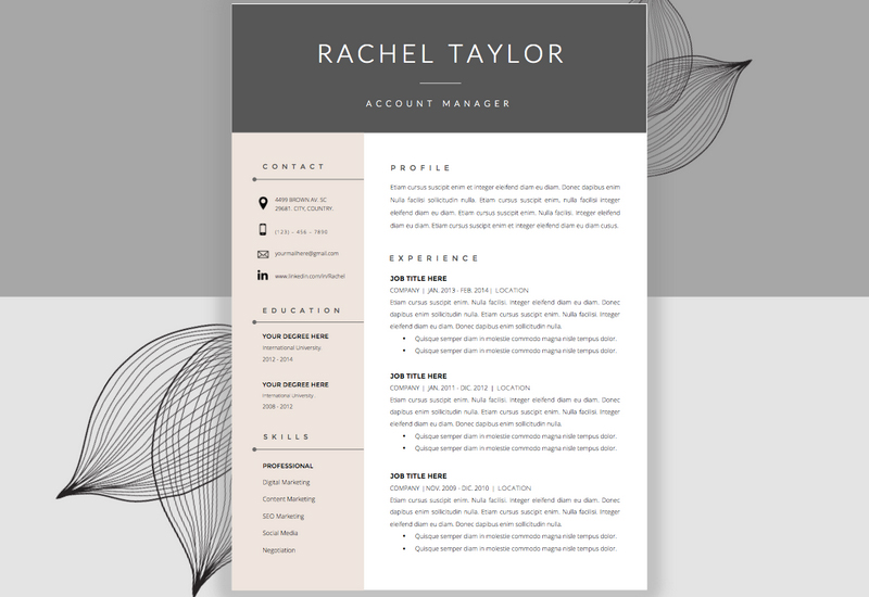 Resume Template U0026 Cover Letter By Resume Studio