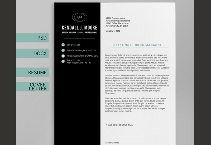 The best cv resume templates 50 examples web emailing professional cover letter and resume template spiritdancerdesigns Images