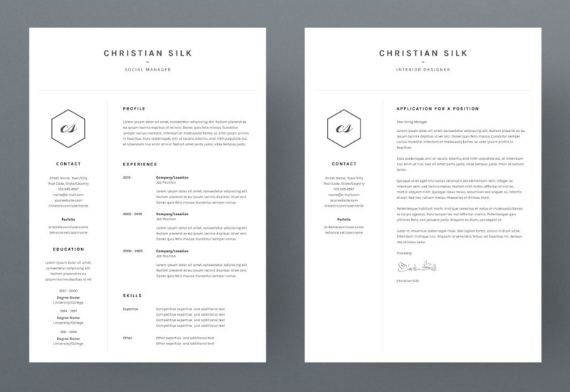 christian silk is a super clean and minimalistic gentleman he wants to get his dream job and needs a perfect resume template that he can easily customize - Clean Resume Template