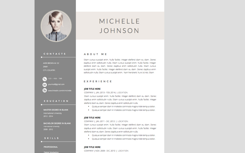 resume template cover letter word file - Elegant Resume Templates