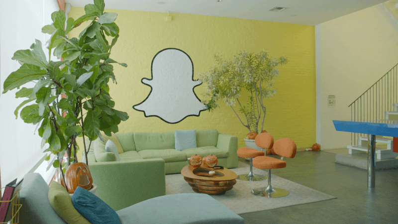 The interior of Snapchat's headquarters in Venice, California.