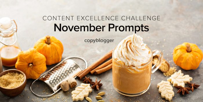 2017 Content Excellence Challenge: November Prompts
