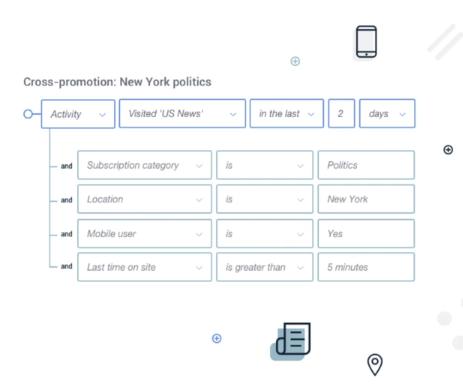 Campaign Monitor segmentation rules