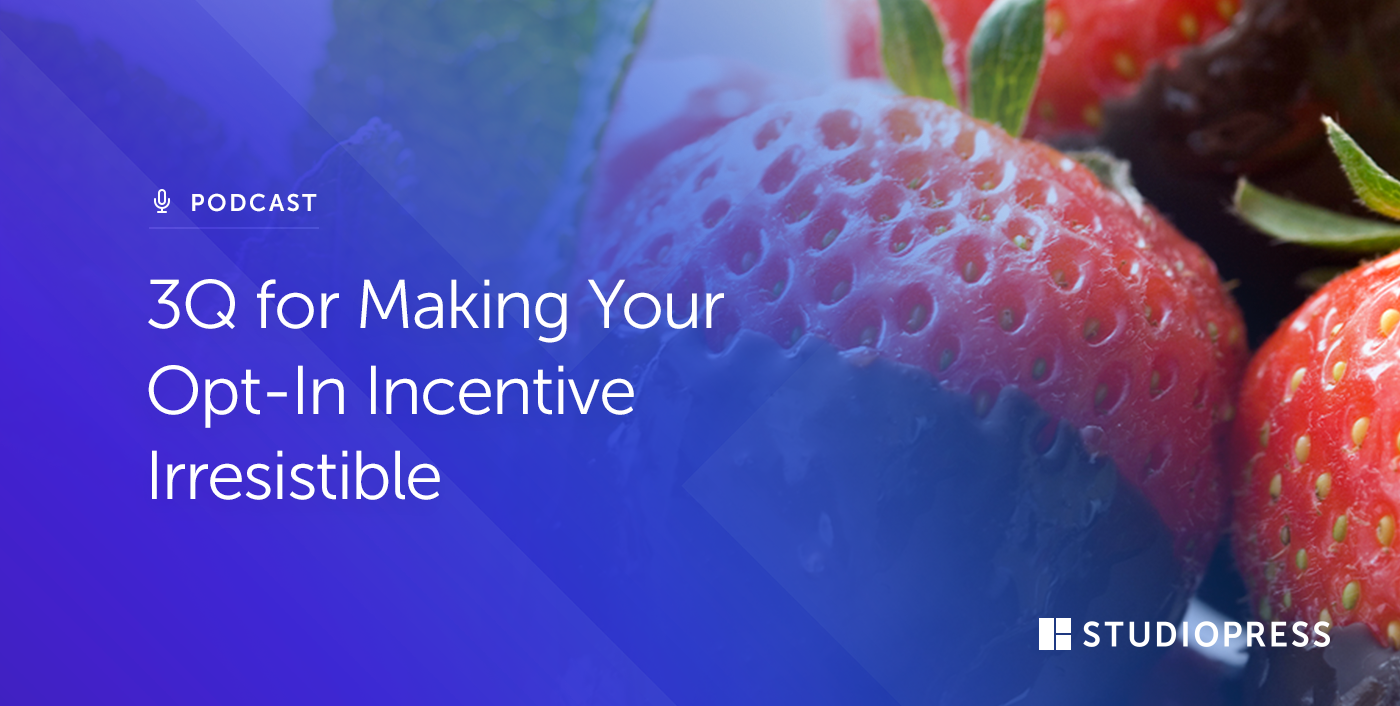 3Q for Making Your Opt-In Incentive Irresistible