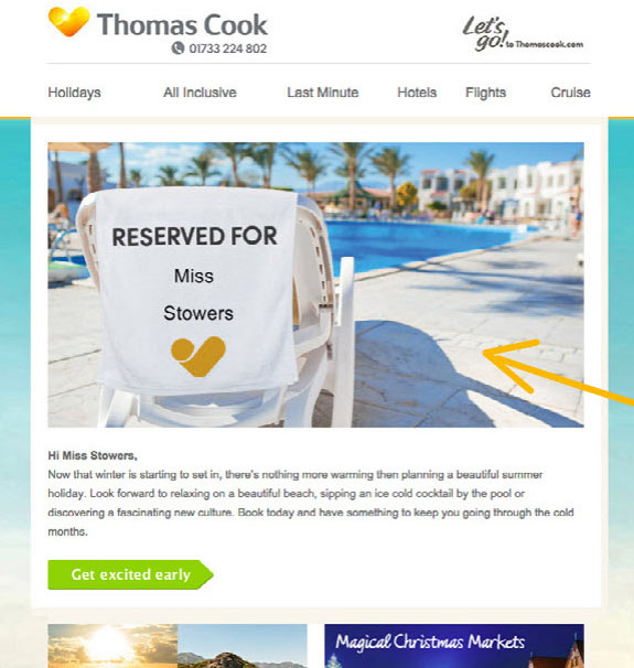 dynamic email personalisation in travel