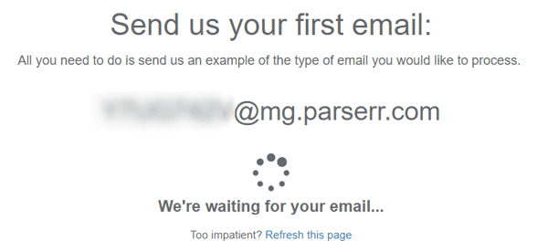 automated email parser setup