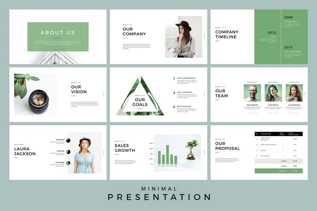 20 modern professional powerpoint templates web emailing