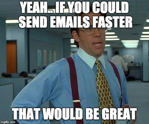 email infrastructure sending speed