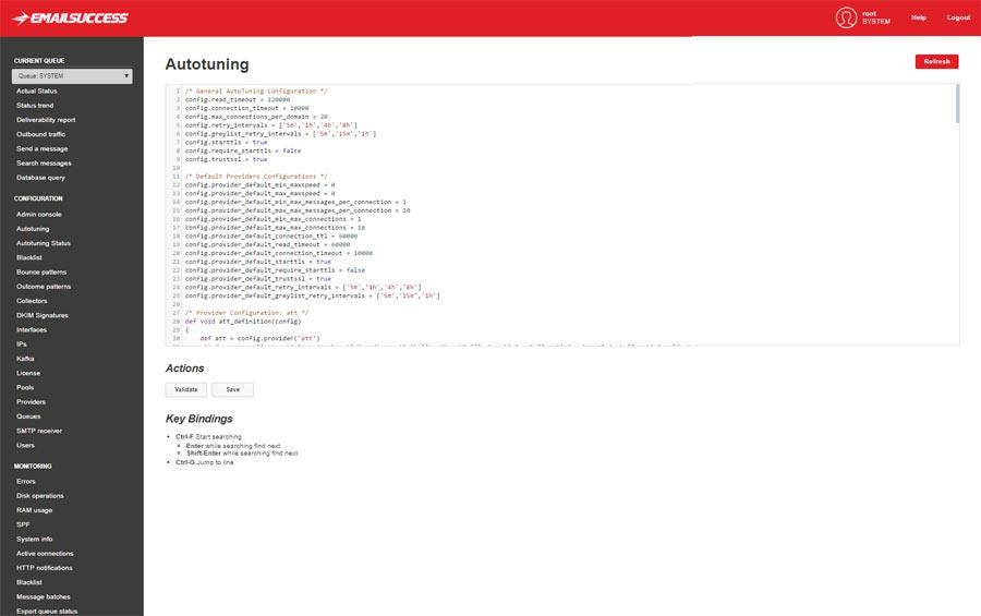 autotuning configuration window emailsuccess