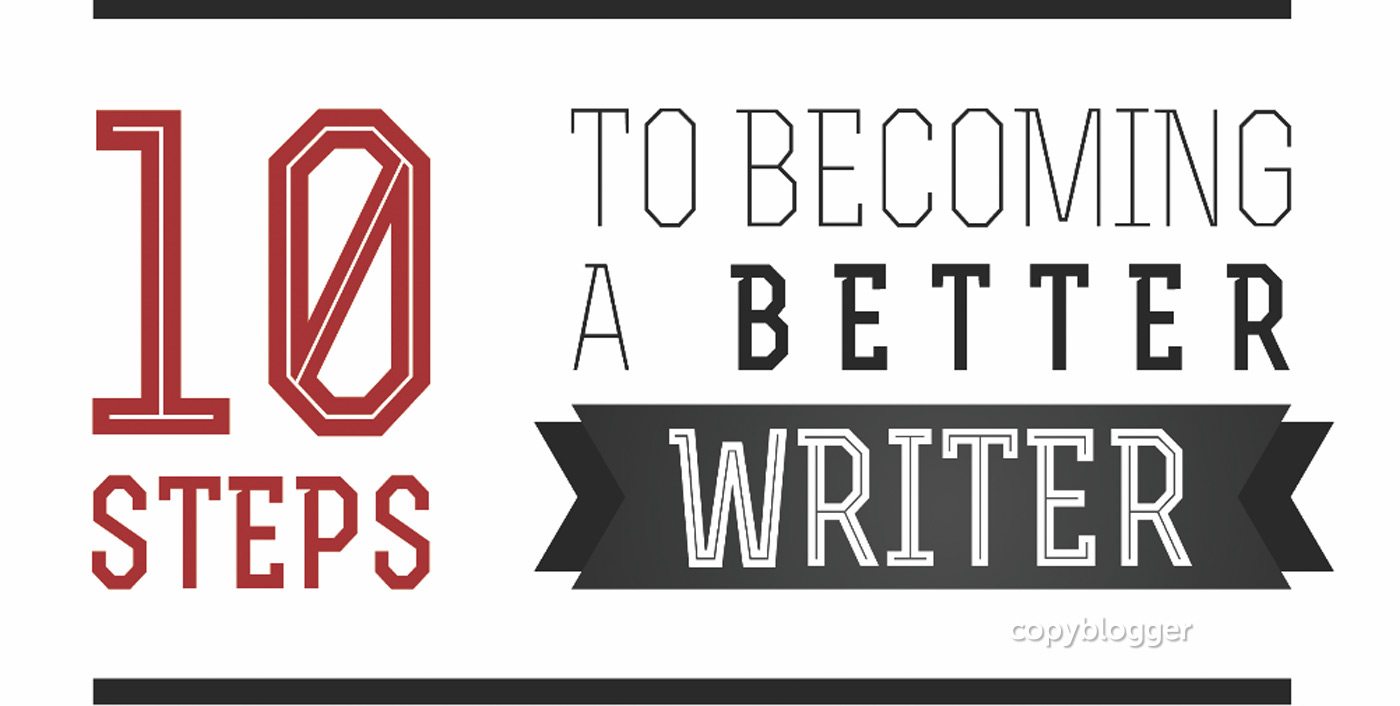10 Steps to Becoming a Better Writer [Free Poster]