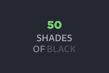 50 Shades of Black: Effective Use of No Color