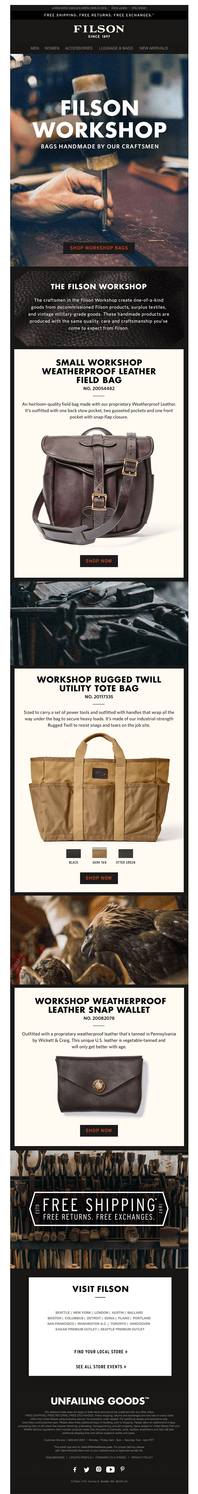 Filson makes you feel like you're in the workshop