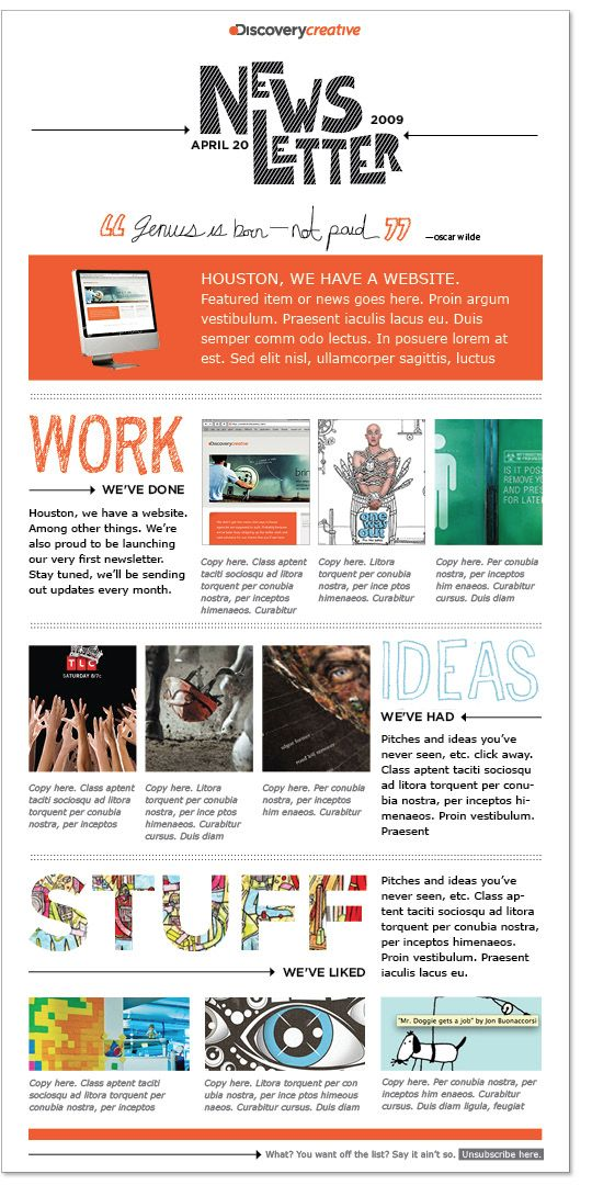 Discovery Creative – Email Newsletters for Internal Communication