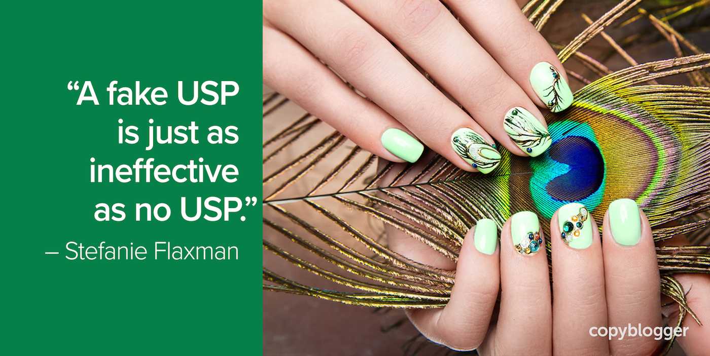 """A fake USP is just as ineffective as no USP."" – Stefanie Flaxman"
