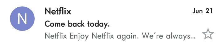 If there is one thing Netflix excels at besides entertainment, it's short, punchy subject lines.