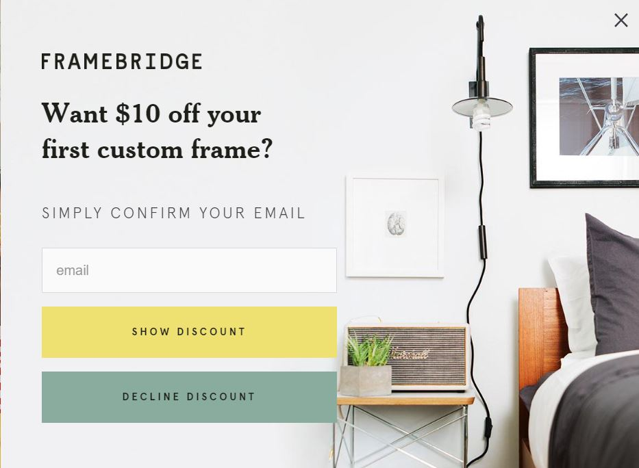 If you're an e-commerce company, offering a discount is one of the simplest lead magnets you can provide. Once your website visitor inputs their contact information, they will receive an email with a unique coupon code to use at checkout.