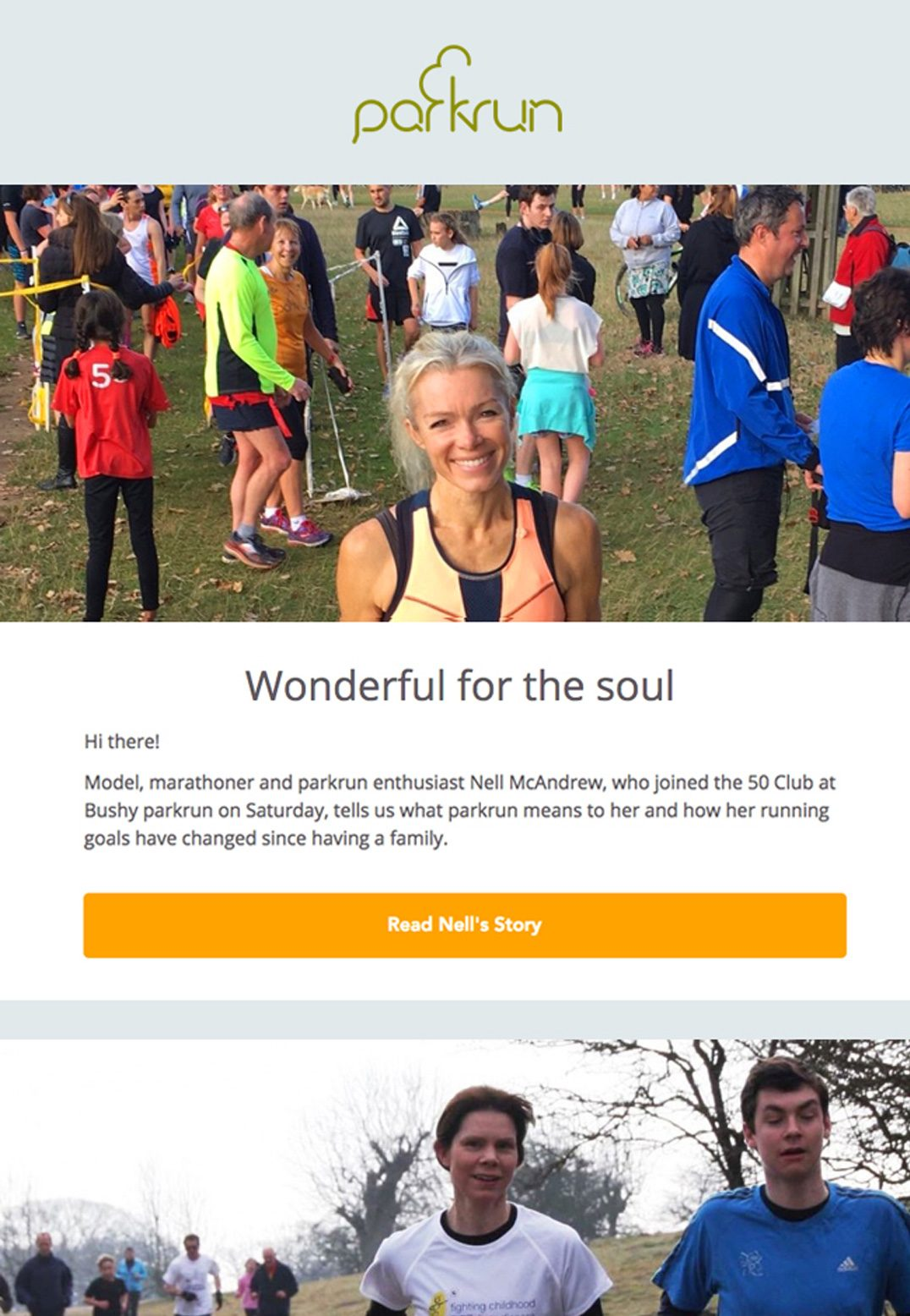 Parkrun – Email Newsletter with Strong Call to Action
