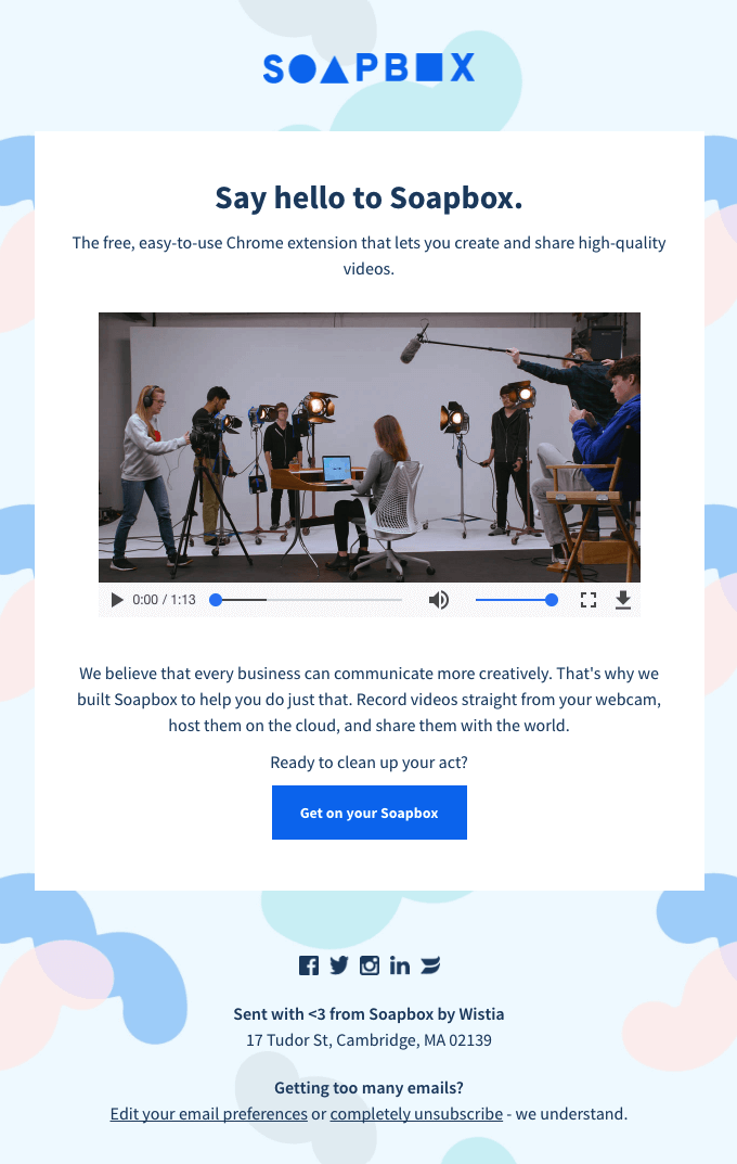 Soapbox is a video creation tool from Wistia.