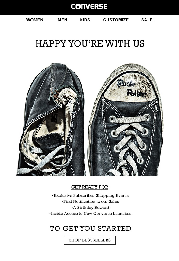 Converse Welcome Email Campaign