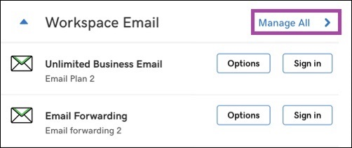 GoDaddy Custom Email Address Setup Under Workspace Email