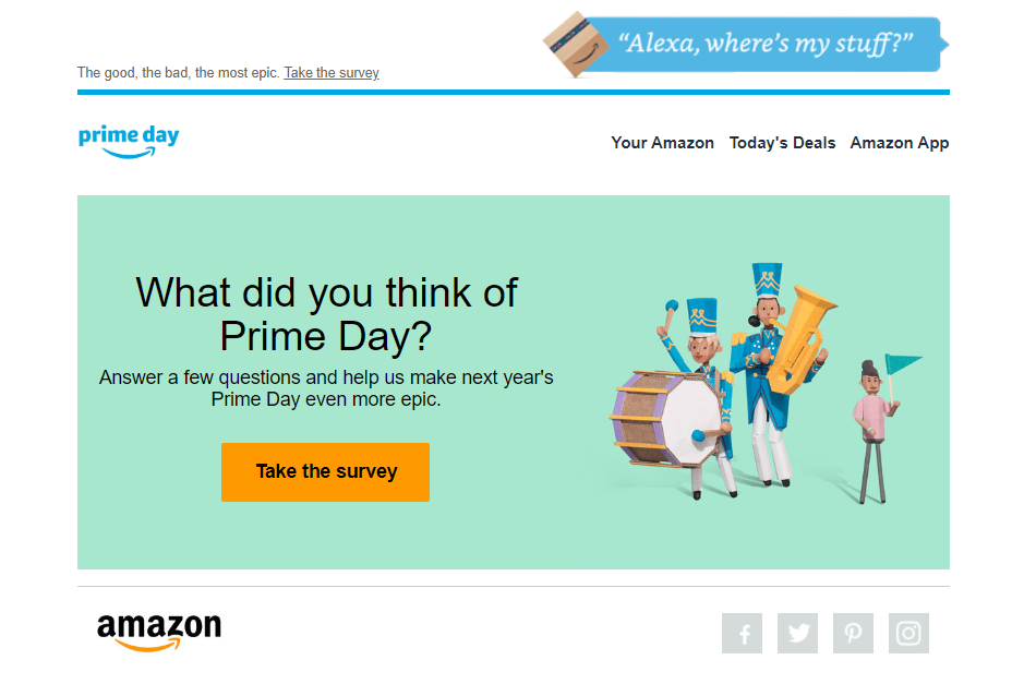 Amazon feedback after Prime Day
