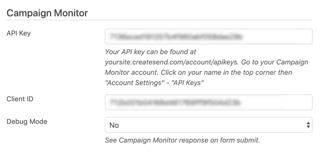 How to create a Campaign Monitor signup form directly in the site.
