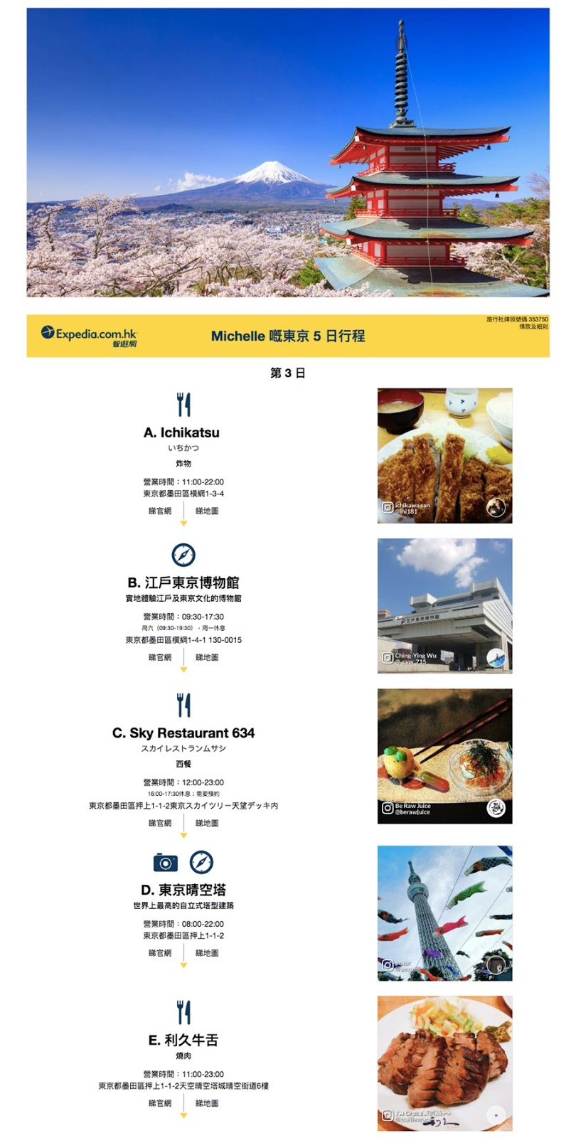 Expedia uses user-generated content in their emails to encourage travel.