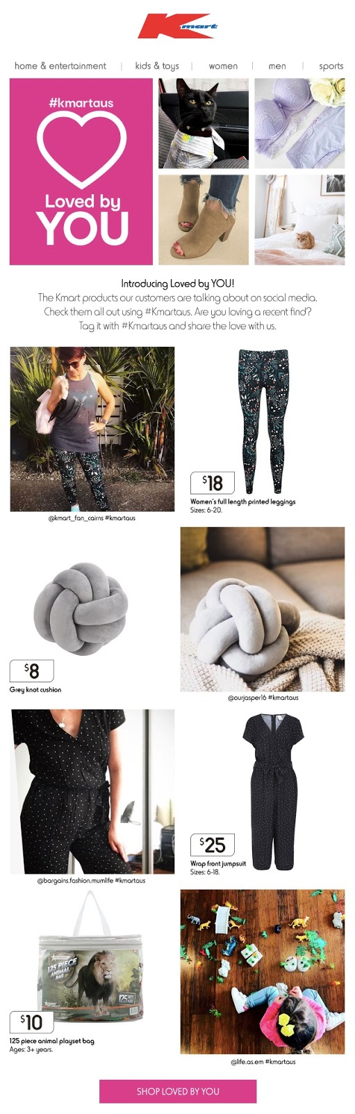 Kmart compares product images to user-generated images.
