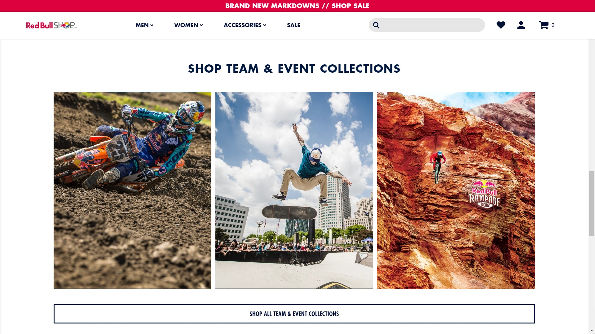 Red Bull Shop US Shopify store page