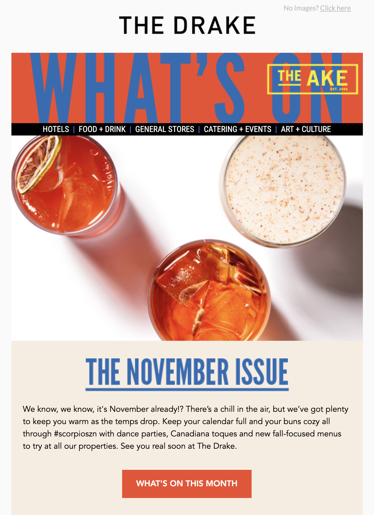 The Drake November newsletter