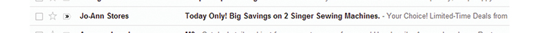 Example of an effective subject line