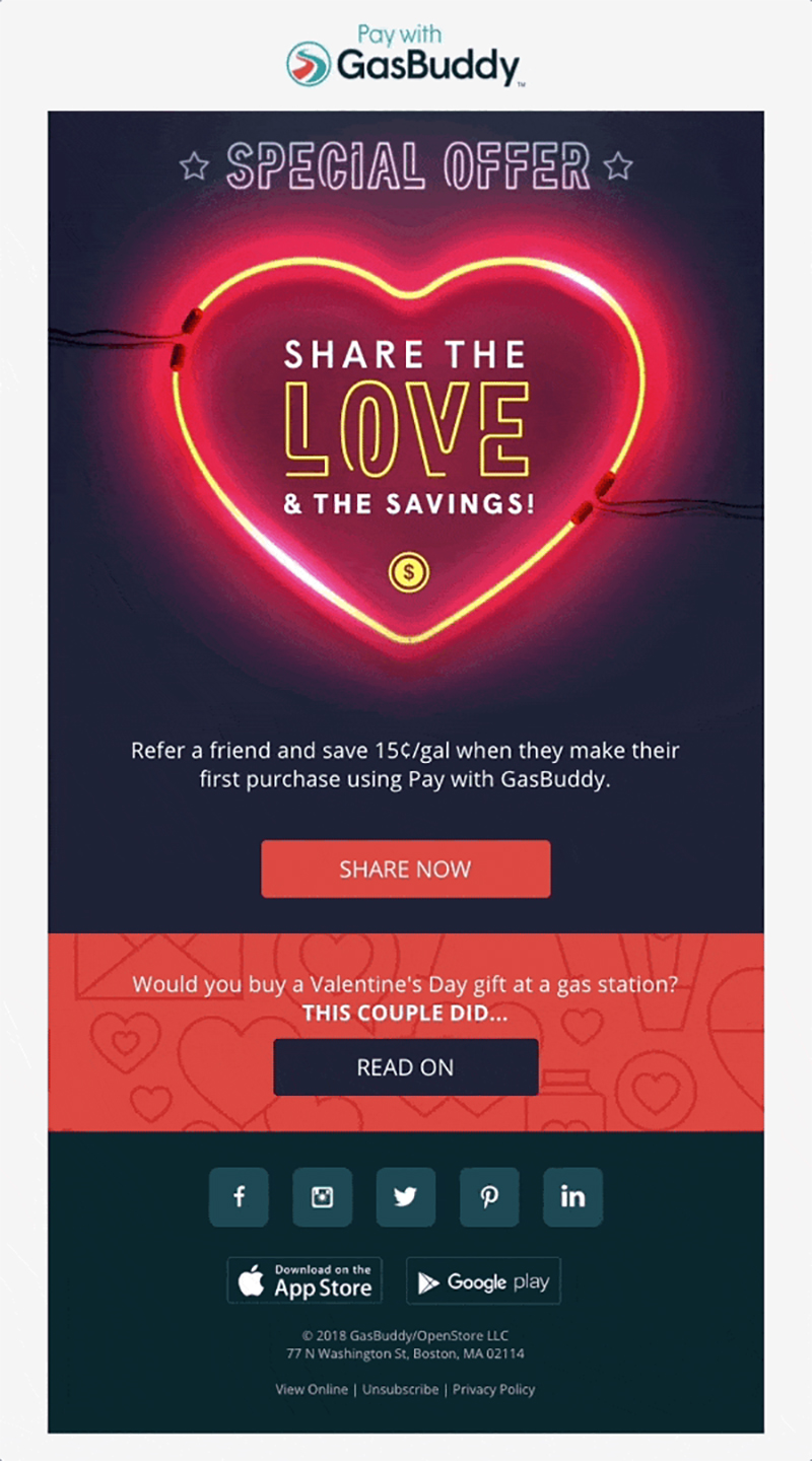 An effective use of shareable links