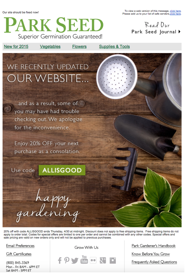 Oops! When email marketing mistakes happen