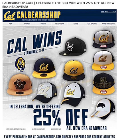 Cal Bears email example
