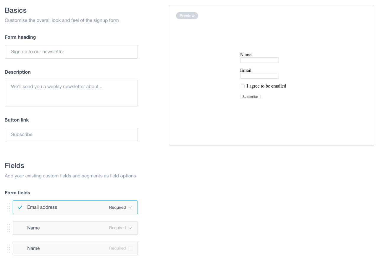 Create a Custom Signup Form with Campaign Monitor