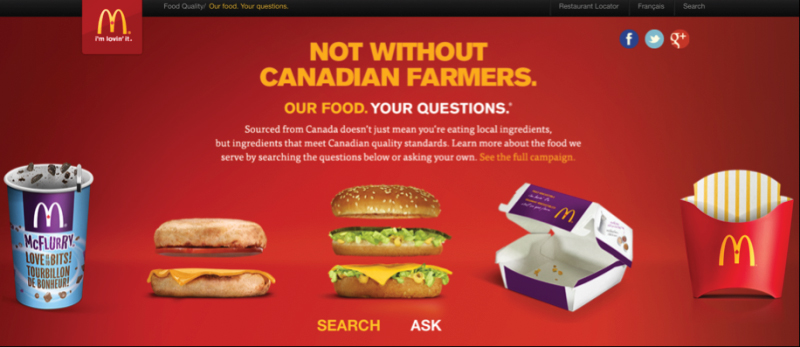 mcdonalds canada open forum