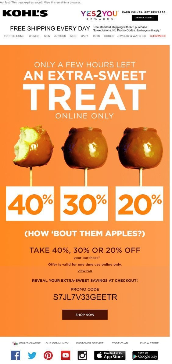 """Spreading the love by sharing """"Sweet"""" deals is a great way to kick off the season of spending, and making good use of incentives encourages readers to take action."""
