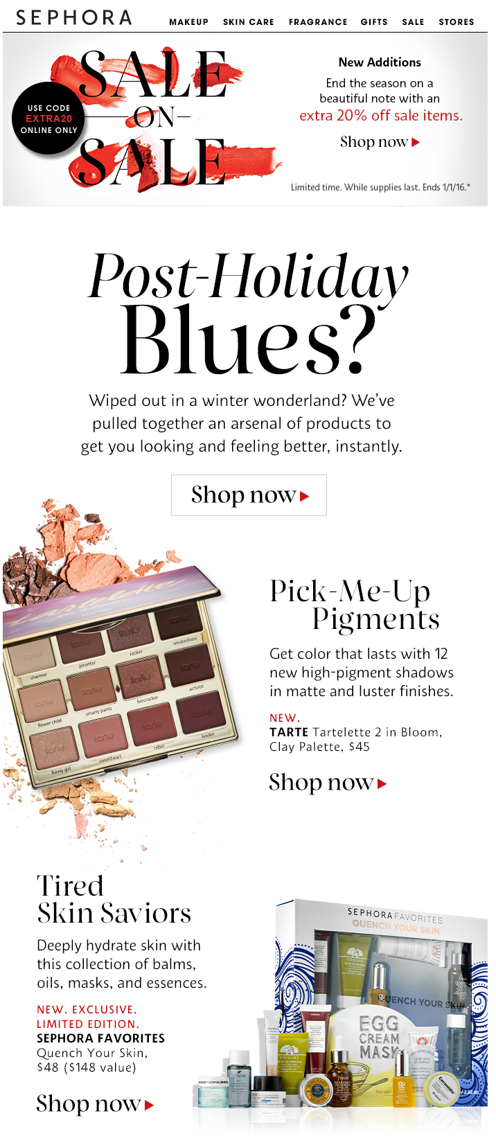 sephora-post-holiday-email