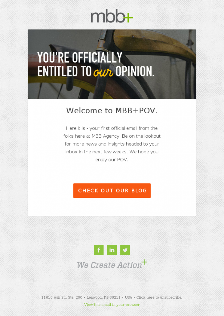 best agency welcome template example