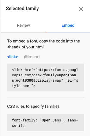 Use this function to embed a font for your emails.