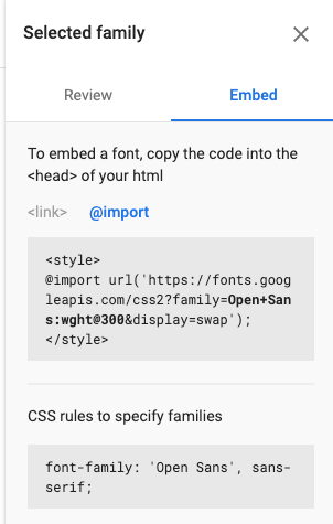 This function lets your import email fonts.