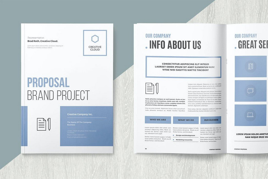 Brand Project Proposal Word & INDD Template
