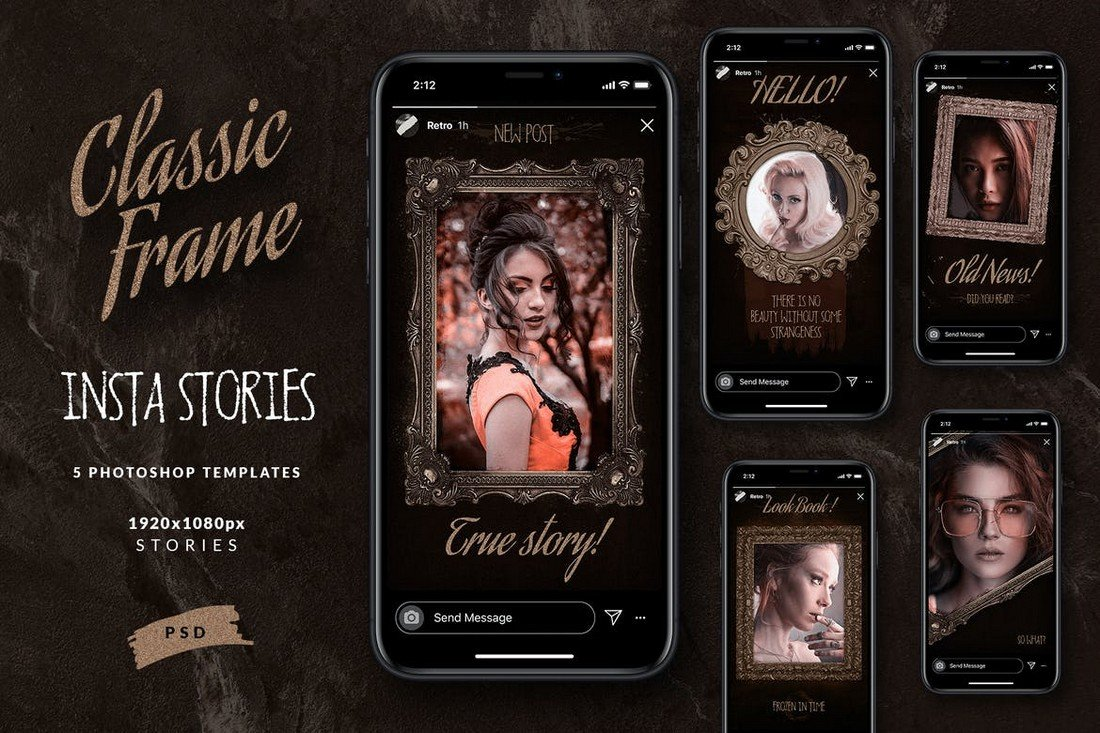 Classic Instagram Frame Story Templates